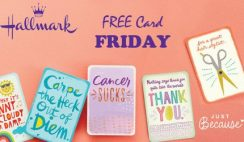 FREE Hallmark 'Just Because Cards' Every Friday + $5 Coupon!