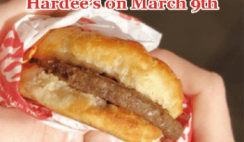 FREE Sausage Biscuit at Hardees on March 9th