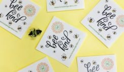 "FREE Honeybee Gardens ""Bee Kind"" Stickers - Every Monday!"