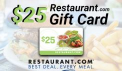 *****Expired*****FREE Gift Card $25 Restaurant.com
