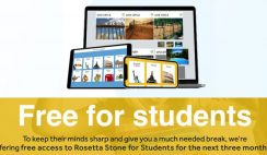 FREE Access to Rosetta Stone for Students for 3 Months!