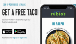 FREE Taco or Fountain Drink at Rubio's Coastal Grill