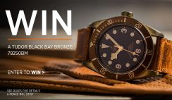 Win a $3,750 Tudor Black Bay Bronze Watch - ends 3/29