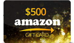 Win a $500 Amazon Gift Card - ends 5/31