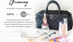 Win a Chanel Caviar Bowling Bag with 6 Months of Skincare Products! From LePrix & Skin Inc - ($5,500+ Value) - ends 4/30