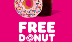 FREE Dunkin' Donut Every Friday in May with ANY Beverage Purchase