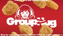 FREE Wendy's Chicken Nuggets 4-Piece on 4/24