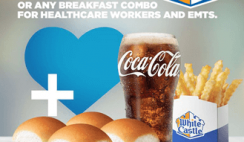FREE White Castle Combo Meal for Healthcare Workers until April 30th
