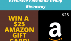 New Facebook Group Giveaway - Win a $25 Amazon Gift Card - ends 5/15