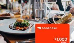 Win a $1,000 DoorDash Gift Card - ends 6/25