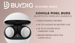 Win a Pair of Google Pixel Buds Bluetooth Wireless Earbuds from BuyDig - ends 5/31