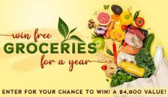 Win FREE Groceries For a Year as a $4,800 Check - ends 5/22