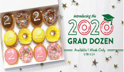 FREE Krispy Kreme Dozen Doughnuts for High School & College Seniors TODAY!!