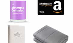 Win a Weighted Blanket, $100 Amazon Gift Card, Immune Boosting Gummy Supplements, and Journal from Neuu Supplements - ends 6/7