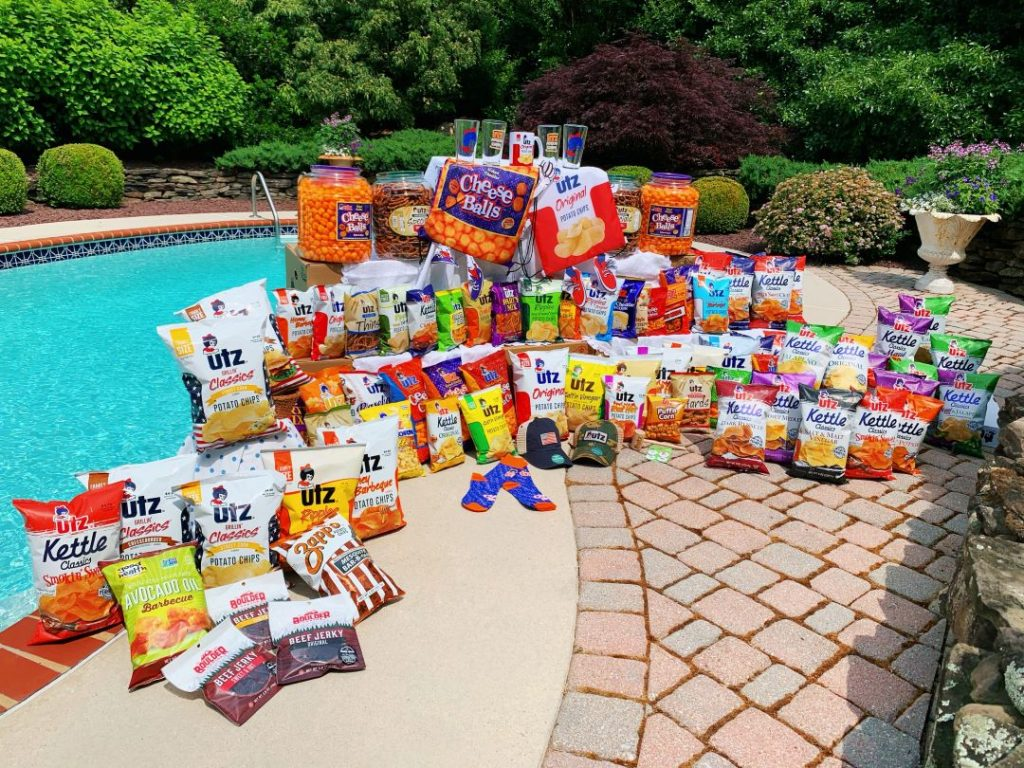 win a huge pile of snacks