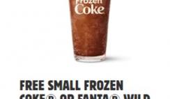 FREE Small Frozen Coke or Fanta Wild Cherry at Burger King