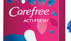 FREE Carefree Acti-Fresh Twist Resist Liners 10ct Box
