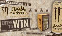 Win a Year Supply of Java Monster & a Fridge - ends 6/30