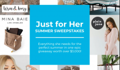Win a $3,000 Linenspa Just For Her Giveaway Prize Bundle - with Premium Mattress Set, Bathing Suits, Bags, PJs, Jewelry, Beauty & More! - ends 6/26