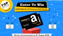 Win 1 of 4 Amazon Gift Cards $100-$300 ($600 in Total) from Top of Style - ends 8/20