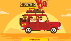 Win the Bojangles Go With Bo Giveaway - with $2,500 CASH, and $2,000 in Gift Cards for Gas, Hotels, Rental Cars & More! ($4,500 Value)  - ends  8/5