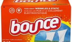 Amazon DEAL: Bounce Dryer Sheets 240-Count – Only $7.49 @40% Off! Limited Time.