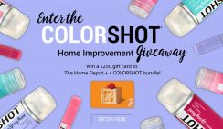 Win the ColorShot Home Improvement Giveaway - $250 Home Depot Gift Card & ColorShot Product Bundle - ends 7/31