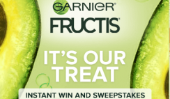 "Win 1 of 10,150 Garnier ""It's Our Treat"" Instant Win Game - Hair Care Products - Enter Daily - ends 8/31"