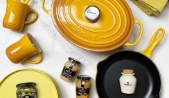 Win a Maille & Le Creuset Signature Oval Cast-Dutch Iron, Cast-Iron Frying Pan & Much More in Mustard Color Collection ($700+) - ends 8/31