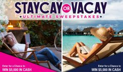 Win $5,000 Cash Towards Your Vacation or Staycation - Enter Daily -  ends 8/14