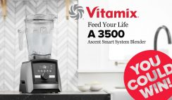 Win a Vitamix Ascent Brushed Stainless Blender from Huppin's ($699 Value) - ends 8/22