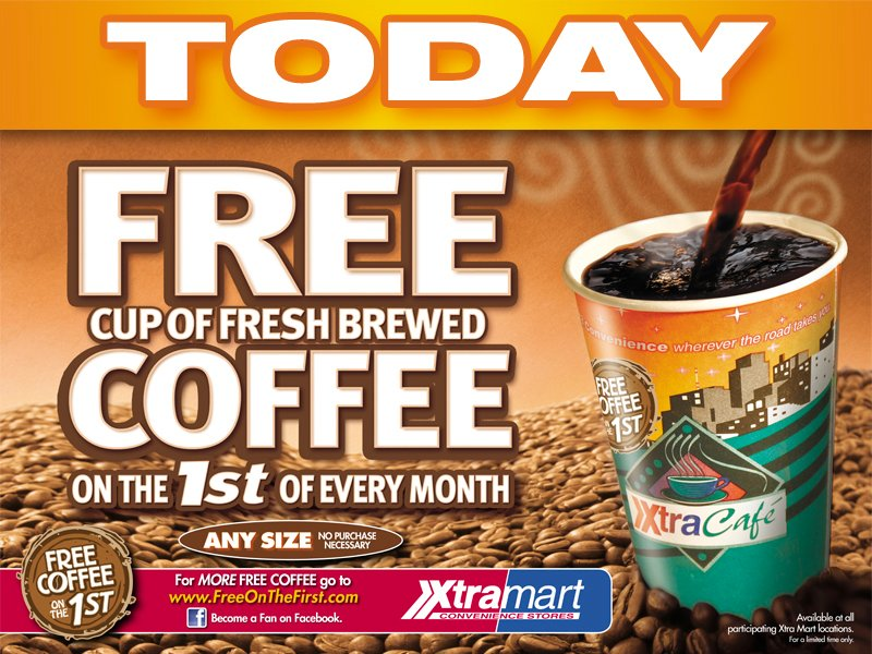 free cup of coffee