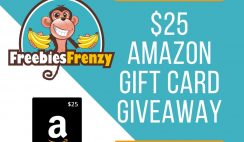 Freebies Frenzy Giveaway: $25 Amazon GC