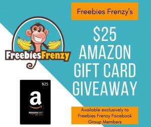 Freebies Frenzy Giveaway: $25 Amazon GC