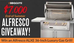 Win a $7,000 Alfresco Luxury Gas Grill From the BBQ Guys - ends 8/31
