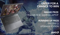 Win 1 of 31 Alienware Arena Destiny 2 and AMD Gaming Notebook Giveaway Prizes - Dell Gaming Notebook, PC Digital Destiny 2 Game - ends 8/3