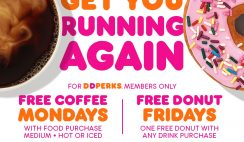 FREE Dunkin Donuts Coffee & Donuts on Mondays and Fridays in August - ends 8/28