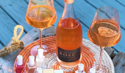 Win the Essie & La Fete Rose Giveaway with Essie Nail Polish Gel Couture Sunset Soiree Collection, La Fete Rose Wine, Estelle Glass Stemware, Expedition Subsahara Place Mats & More! ($430 Value) - ends 8/16