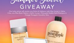 Win a $500 FragranceNet Summer Sunset Prize Bundle with Dolce & Gabana, You Glow Girl and Philosophy - ends 8/31