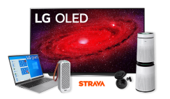 """Win 1 of 501 LG Prizes - LG OLED 77"""" TV Worth $5,000, LG Laptop, Air Purifier, Ear Buds & More! - ends 8/17"""