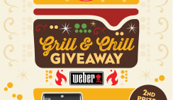 Win 1 of 3 Shasta Weber Grill & Chill Prizes - Weber Grills $1,300 Value - Enter Daily - ends 8/31