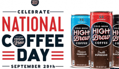 FREE Can of High Brew Coffee - 2PM!