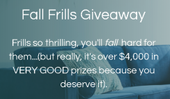 Apt2B Fall Frills $4K Giveaway ends 10/3