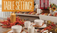 Autumn Table Setting Giveaway ends 9/21