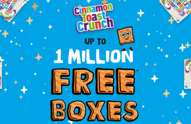 FREE Box Cinnamon Toast Crunch