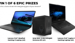 Lenovo Gaming Laptop Giveaway ends 9/6