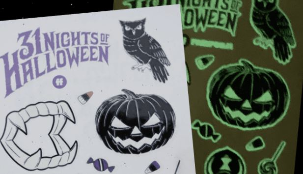 Free Halloween Glow Tattoos