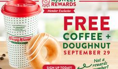 FREE Krispy Kreme Coffee & Doughnut @ 9/29