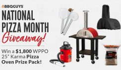 BBQ Guys Pizza Oven Giveaway ends 10/31