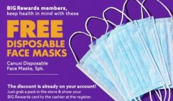 FREE 5-Pack of Face Masks